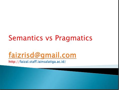 Essay about syntax and semantics